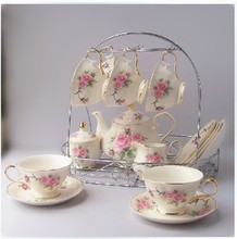 Free shipping, Powder tea small fresh 15 afternoon tea fashion tea set coffee set high quality