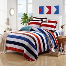 4Pcs Winter Fleece Coffee Plaid Stripe Bedding set King Queen size European Bed set Duvet cover Bedsheet Pillowcase Home textile(China (Mainland))