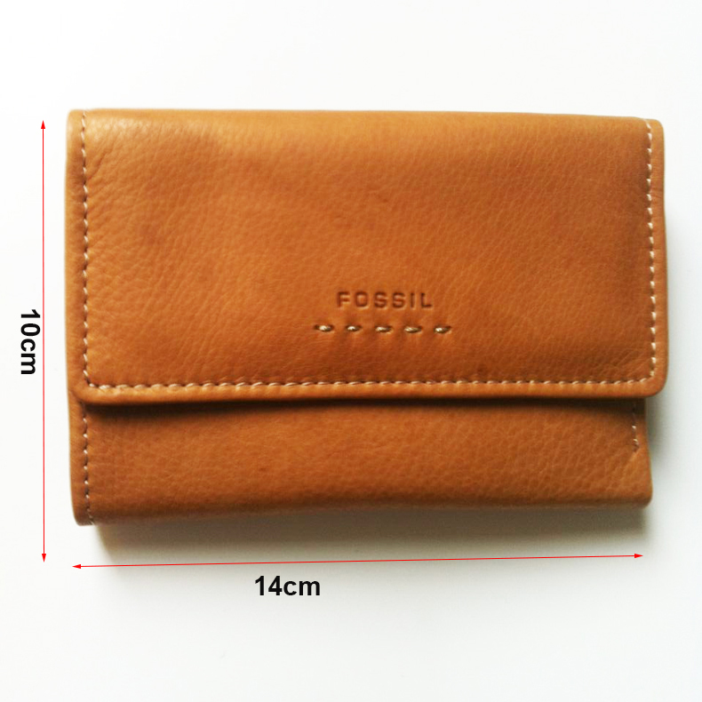 Summer new men wallets high quality Cow leather short wallet Europe and America Style FOSSIL Genuine