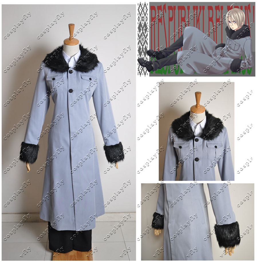 Axis Powers Hetalia Nyotalia Belarus Jacket, Shirt Pants Full Outfit Cosplay Costume custom made size (C0178) - Cospalyfly store