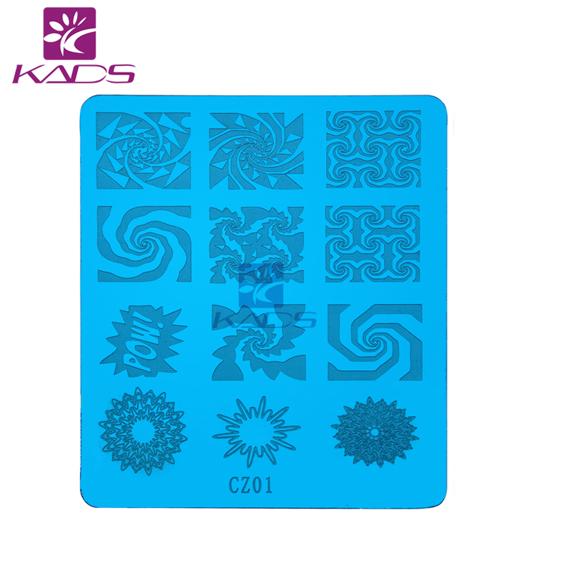KADS CZ Series CZ01 unique Design Nail Art Image Stamp Stamping Plates Manicure Template For DIY Creative 3d Nail art Decoration(China (Mainland))