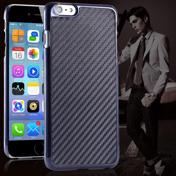 High Technology Carbon Fiber Hard Back Case For iphone 6 Plus 5.5inch Electroplating PC Mobile Phone Cover For iphone 6 Plus(China (Mainland))