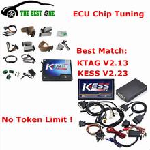 Full Set V4.036 KESS V2 OBD2 Manager Tuning Kit V2.23 + V6.070 K-tag ECU Programming Tool V2.13 , KESS KTAG No Tokens DHL Free(China (Mainland))