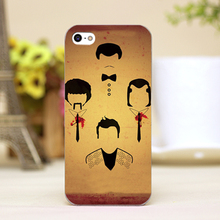 pz0014-4 four man face Design Customized cellphone transparent cover cases for iphone 4 5 5c 5s 6 6plus Hard Shell