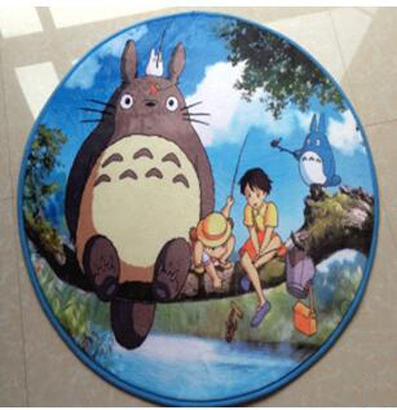 Manufacturers selling new totoro circular 80 * 80 cm flannel mat computer chair cushion sofa tea table carpet38cm*58cmrug(China (Mainland))
