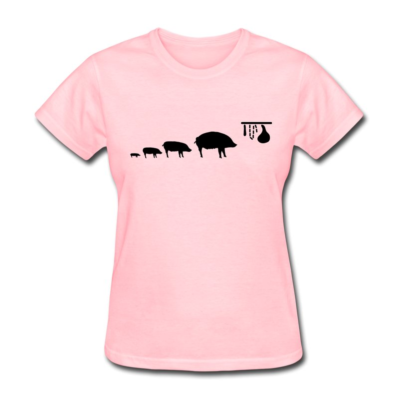 Casual Womens T Shirt Pig Evolution Custom Humor Quotes T