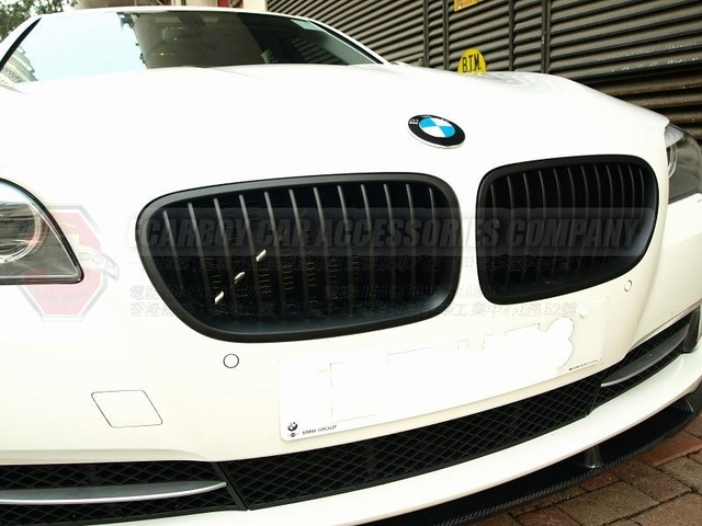 10-13 F10 F11 5-SERIES MATTE BLACK FRONT HOOD KIDNEY GRILLE 520i 523i 525i (Brand new, no MOQ, In stock, Free shipping)