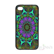 For iphone 4/4s 5/5s 5c SE 6/6s plus ipod touch 4/5/6 back skins mobile cellphone cases cover Mandala Mayhem Pattern