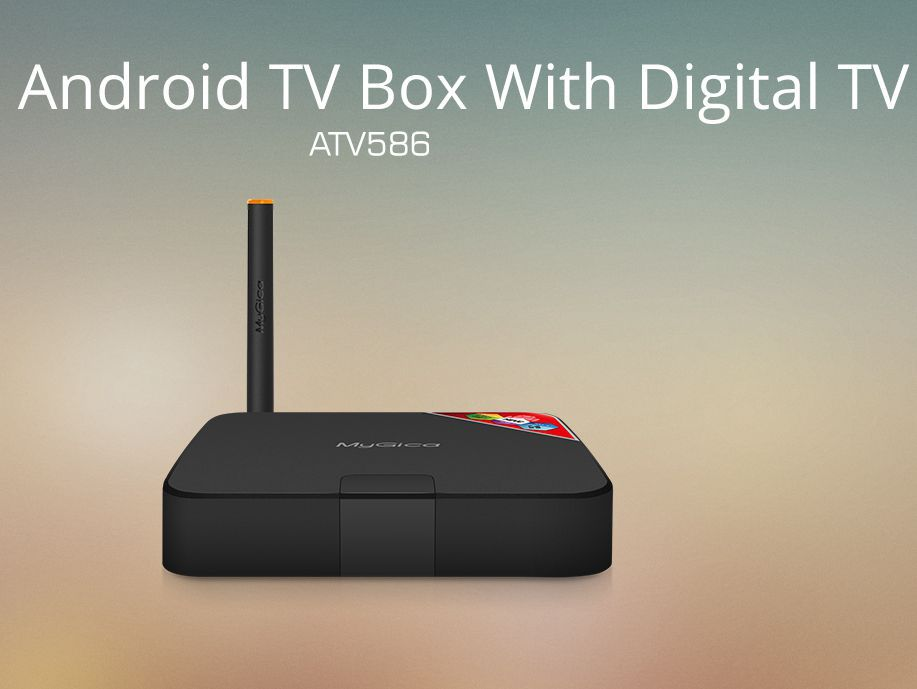 Mygica android TV box with digital TV ATV586 google quad smart android TV box DVB-T/T2(China (Mainland))