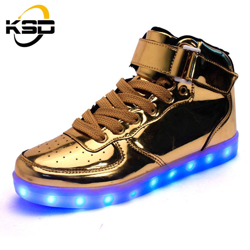 Здесь продается  quality 8 Colors led Shoes 2016 classic running luminous shoes High Top Growing shoes for Adult men
