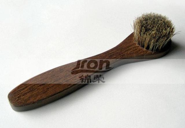 Horse brush shoe brush oil high quality horse wool shaggy mane shoe brush shoes