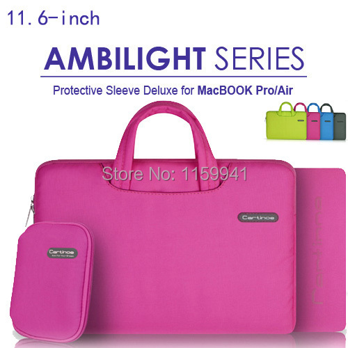 Cartinoe 11.6'' 12'' ChromeBook Ultrabook Laptop Oxford Cloth Handle Carrying Sleeve Case Cover Computer Briefcase Bag Hot Pink(China (Mainland))