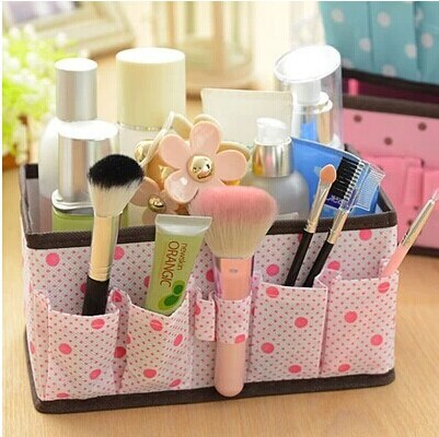 fashion Korean office desktop storage box cosmetic jewelry cosmetics private debris bucket storing small objects storage bags(China (Mainland))