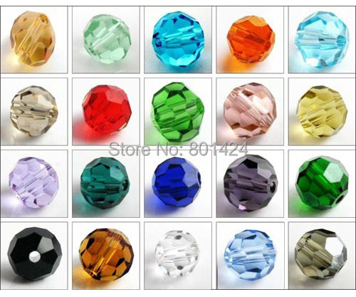 2072-104 6mm Crystal Round Beads 5000 glass faced craft Accessories jewelry - HYBEADS Official Store store