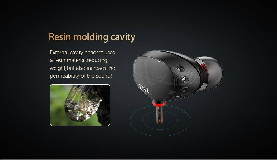 KZ ZN1 Earphone Double Modular HiFi dj Tuning Noise Cancelling Sensor In-Ear Earphones mp3 player DJ fone de ouvido auriculares
