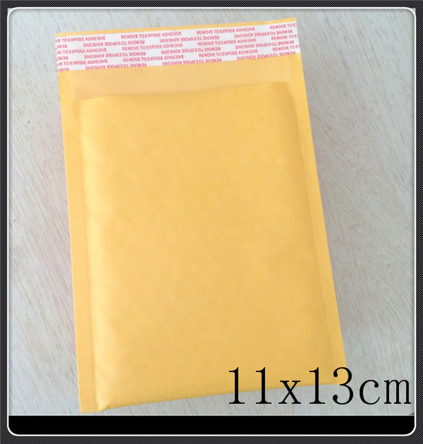 "Wholesale 100pcs 11X13cm 4.3""x5.1"" Small Manufacturer Kraft bags bubble mailers padded envelopes paper mailer MAILING bag(China (Mainland))"