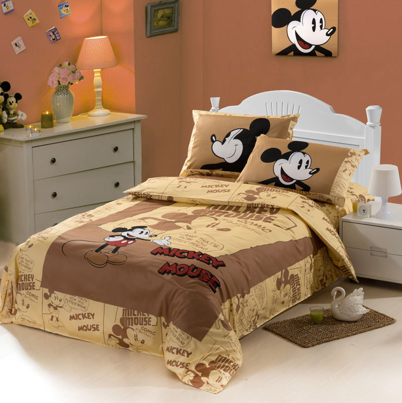 children bedding set full size cotton student kids bedding sets duvet cover single bed sheet. Black Bedroom Furniture Sets. Home Design Ideas