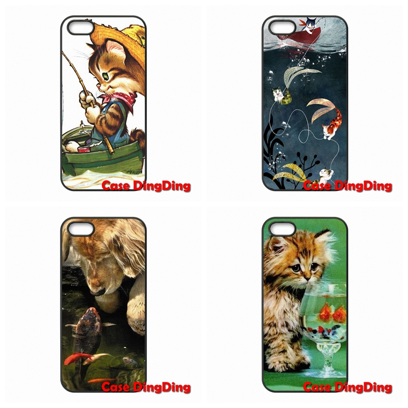 Mobile Phone Case Retro Cute Cats And Fish For Sony Xperia Z Z1 Z2 Z3 Z4 Z5 Premium compact M2 M4 M5 C C3 C4 C5 E4 T3(China (Mainland))