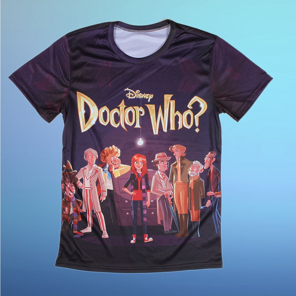 3d T Shirt Cartoon Printing Movie Doctor Who Round Neck T