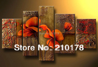 5pcs MODERN ABSTRACT HUGE WALL ART OIL PAINTING ON CANVAS FL5-011