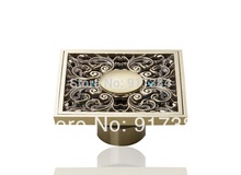 Construction & Real Estate Hot Ross Antique Brass Grate Floor Register Waste Drain 4″ x 4″ M-037 Flower Art Floor Drain