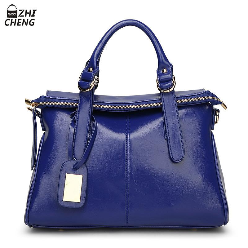 2016 Women Bag Oil Wax Leather Famous Brand Vintage Designer Crossbody Handbags High Quality Bolsa Femininas Women Messenger Bag<br><br>Aliexpress