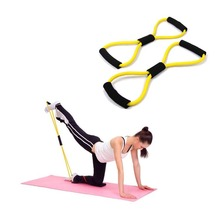 New Resistance Training Bands Tube Workout Exercise For Yoga 8 Type Fashion Body Building Fitness Equipment Tool Best Selling