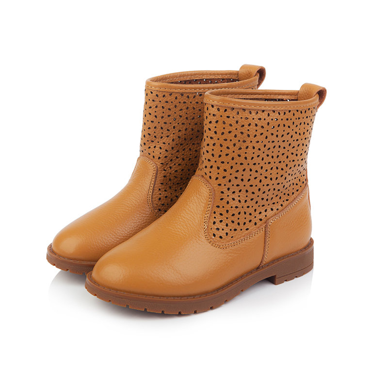 2016 genuine leather big botas boots winter chunky