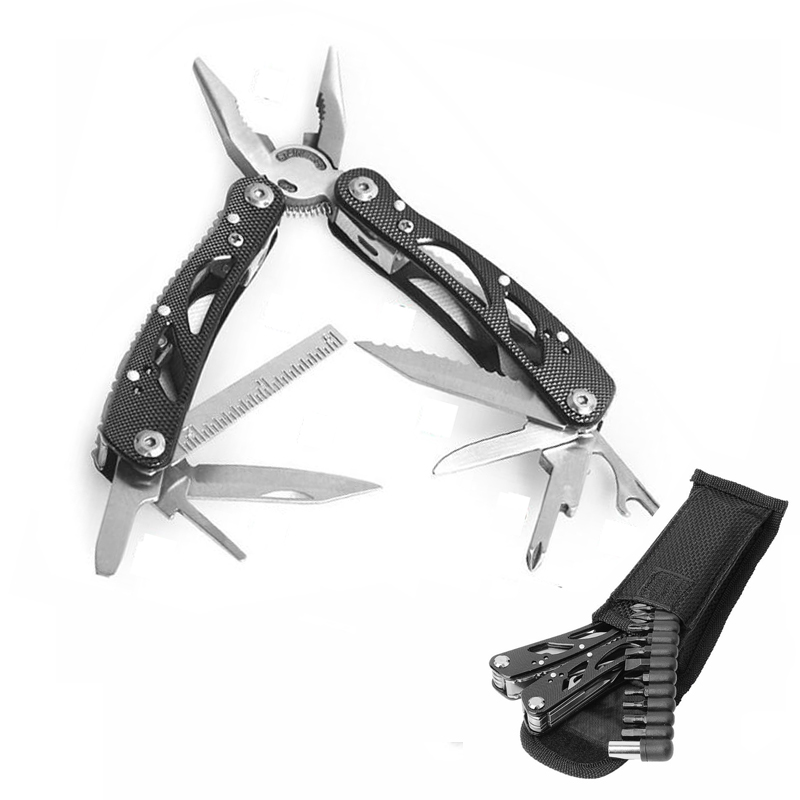 Outdoor Multifunction Folding Pliers Tools For Survival Stainless Steel Cable Wire Stripper Cutter Crimping(China (Mainland))