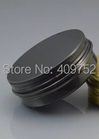 Lot of 30pcs Aluminum Jars 60ml Black Tin 60g Cosmetic Containers Crafts Pots(China (Mainland))