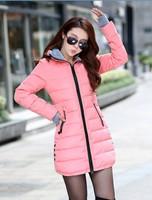 хлопок мягкие куртки женские зимние средне долгосрочной вниз хлопок плюс размер Жакет женский тонкий дамы куртки и пальто