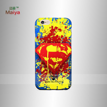 Cute Superman Painted Phone Housing Back Shell For iPhone6 6S Case Cover