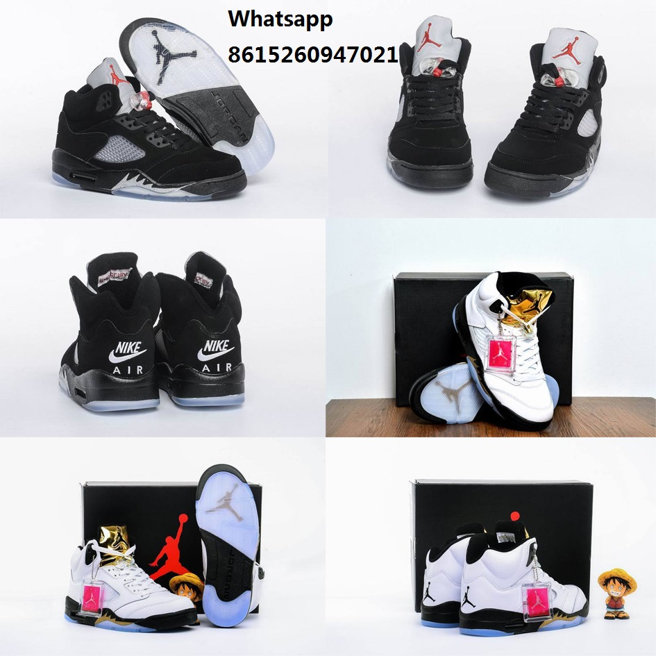 New 2016 mens air jordan 5 OG metallic black olympic shoes white gold retro v boots with original box man size US 8 to 13(China (Mainland))