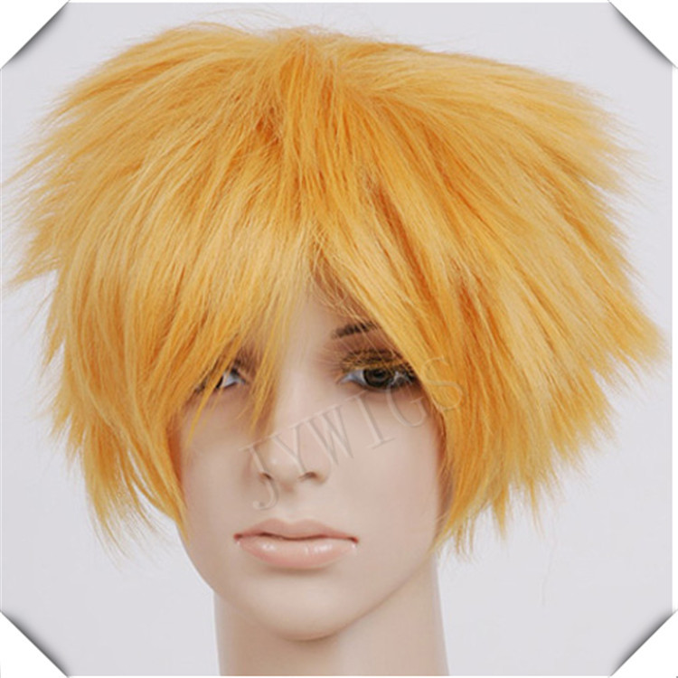 2015 Yellow SHort BOBO Synthetic Women Wig Sexy Costume For Lady Heat Resistant Hair Anime Party Cosplay<br><br>Aliexpress