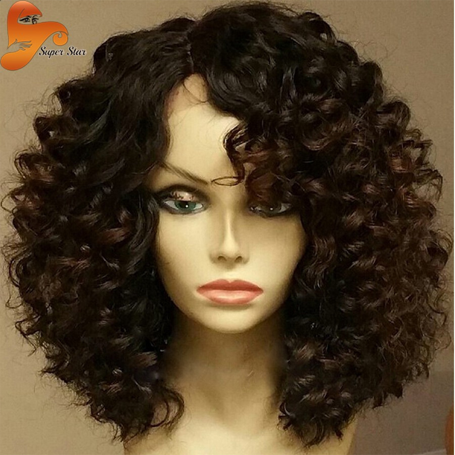 Гаджет  6A Best Virgin Brazilian Full Lace Human Hair Wigs For Black Women Curly Glueless Full Lace Wigs&Lace Front Wigs With Baby Hair None Волосы и аксессуары