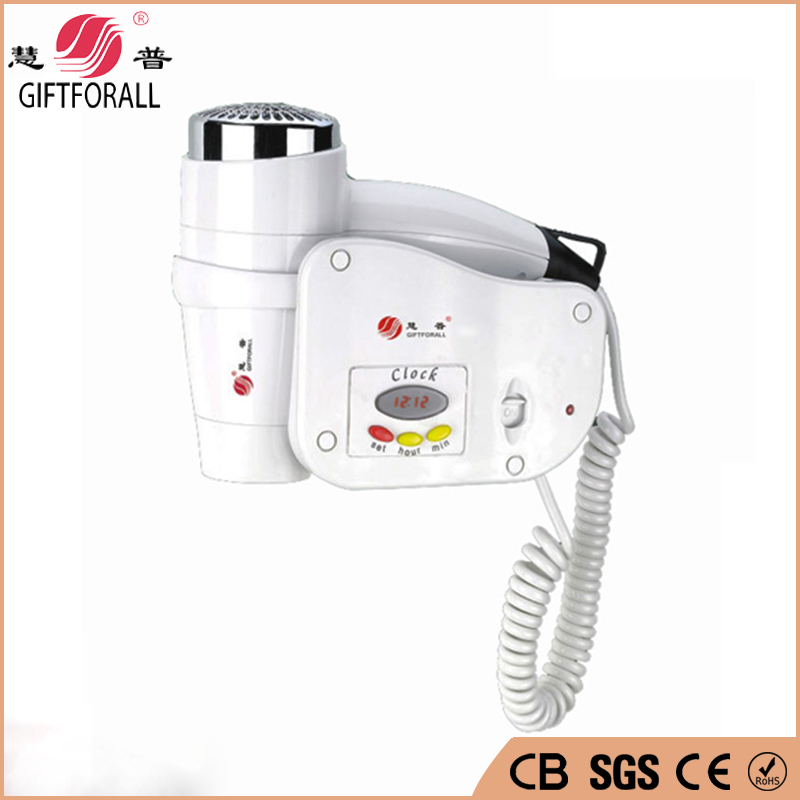 Professional Hair Dryer Hotel Wall Mounted Hotel White Hot/Cold Air Factory Direct Sale Hot Air Dryer 1808-6-S1 Z10(China (Mainland))