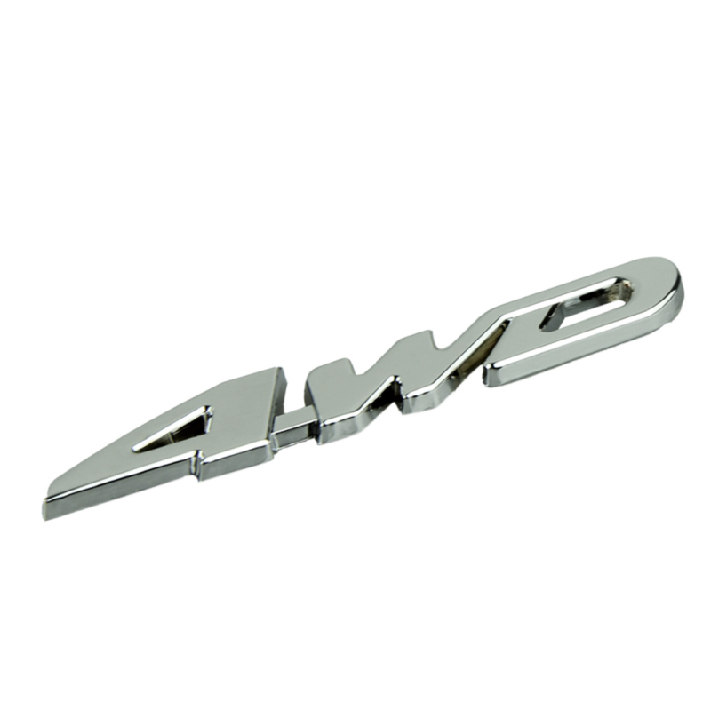 Essential 2014 New Car Metal Chrome 4WD Displacement Emblem Badge All Wheel Drive Auto Sticker 625(China (Mainland))