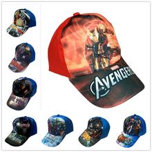 2016 new  spring summer  kids cartoon iron man  star war superman baseball caps children's sun hats  for boys(China (Mainland))