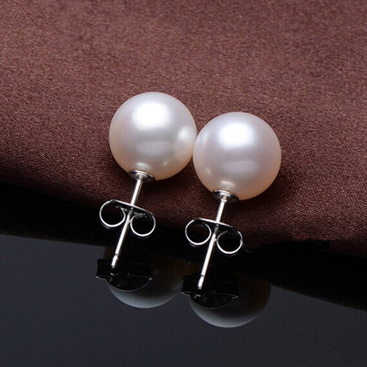 fashion pearl earrings Stainless steel pearl earrings earrings for women EH189(China (Mainland))