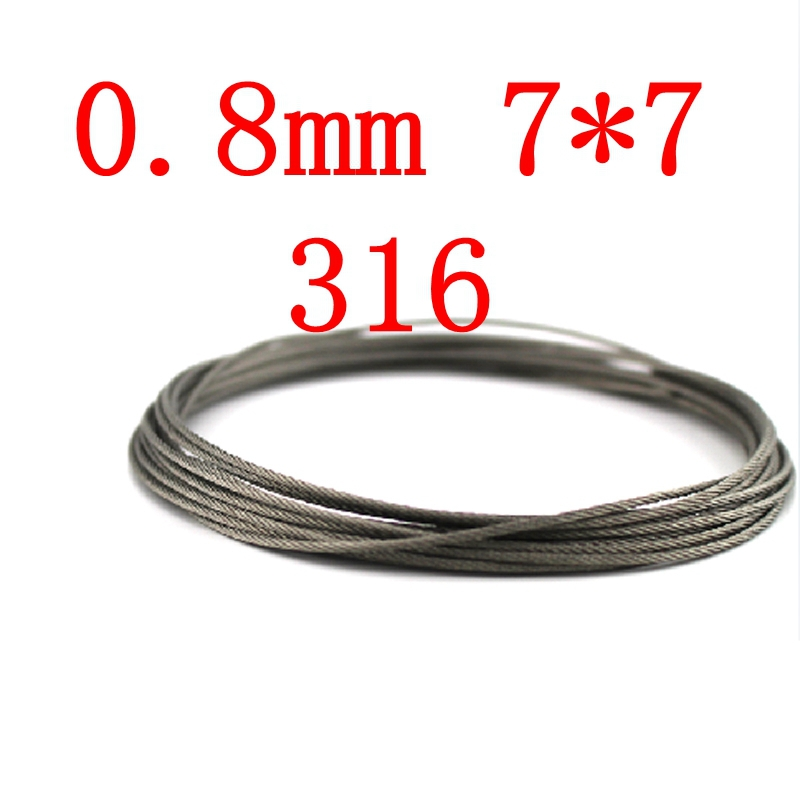 0.8mm 7*7 Authentic Marine Seaworthy Grade 316 316L Stainless Steel Wire Rope,Stainless Steel Cable(China (Mainland))