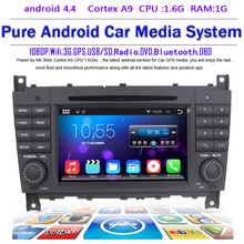 Android 4.4.4 Stereo for Mercedes Benz C Class W203 2004 c200 C230 C240 C320 C350 CLK W209 2005 headunit  GPS Radio WiFi 3G NAVI