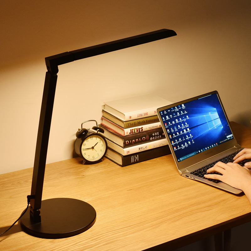 Modern Desk Lamp LED Office Work Lamp 5-level Dimmer Touch Control Home Bedside Study Reading Light Folding Computer Table Lamp(China (Mainland))