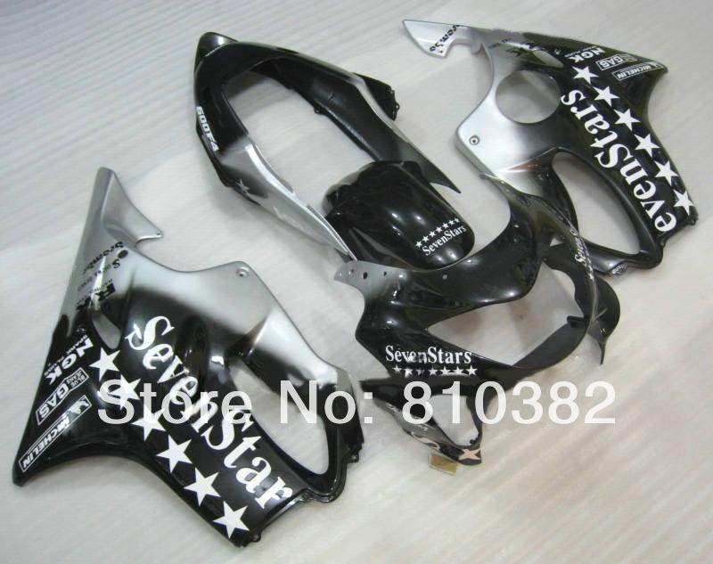 Motorcycle Fairing kit for HONDA CBR600 F4 99 00 CBR600F4 1999 2000 F4 CBR600 Seven Stars black white ABS Fairings set HG26(China (Mainland))