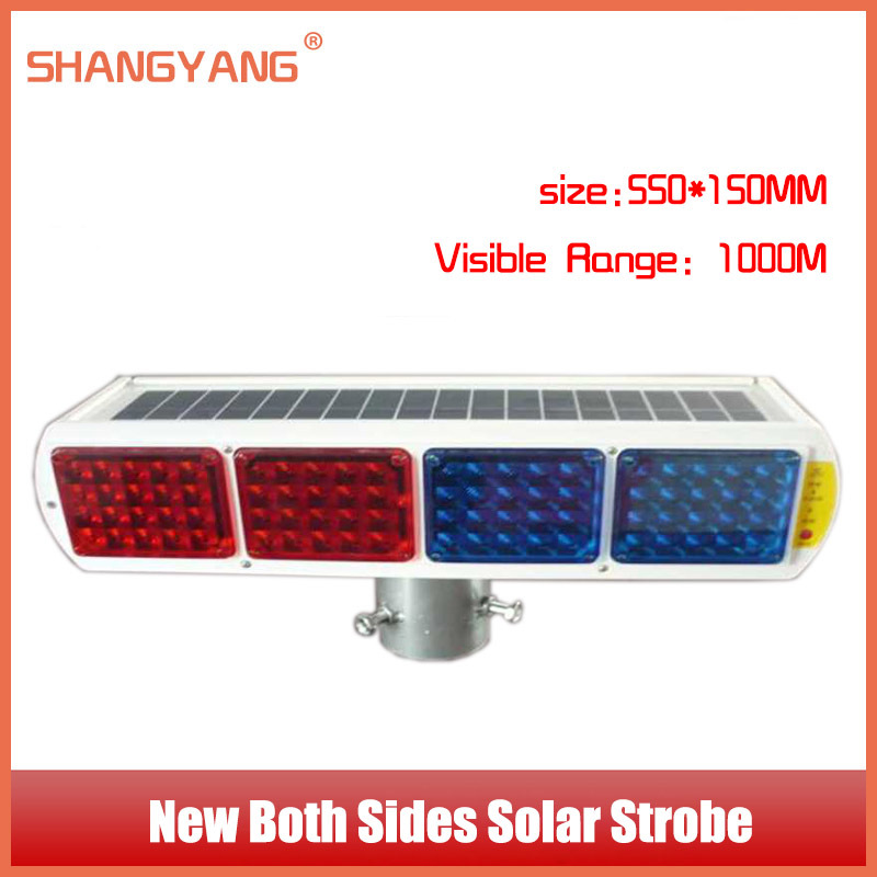 New Arrived Both Sides Solar Strobe Roadway Safety Intersection Traffic Lights Solar Warning Light Traffic Facilities SY-TL001(China (Mainland))