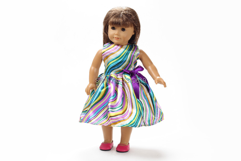 Free shipping!!! hot 2014 new style Popular 18 American girl doll clothes/dress w213<br><br>Aliexpress