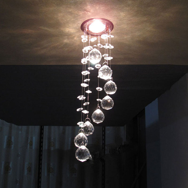 Best Price NEW Arrival 3W LED Crystal Chandelier Modern Crystal Lamps Aisle Hallway Lights Dia85mm x H300mm Free Shipping<br><br>Aliexpress