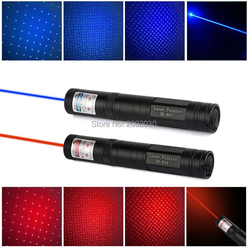 High Power Burning Laser Pointer JDlaser 851 Red/Blue Laser 851 Powerful Blue/Red Laser Pointer Pop Ballon Astronomy(China (Mainland))