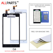 Buy ALLPARTS Tested 4.5 inch Black White Touch screen HUAWEI Ascend G6 Touch Screen Digitizer Replacement Parts Free Adhesive for $6.42 in AliExpress store