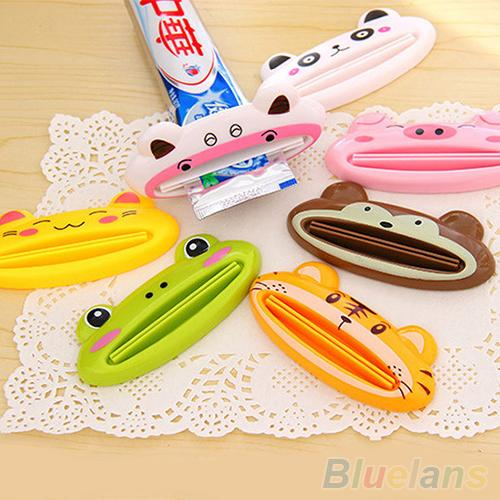 Bathroom Home Tube Rolling Holder Squeezer Easy Cartoon Toothpaste Dispenser 2MO8 3DFD