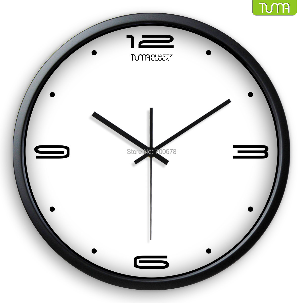 tuma wall clock movement 14 inch living room bedroom clock big wall pocket watch quartz clock. Black Bedroom Furniture Sets. Home Design Ideas